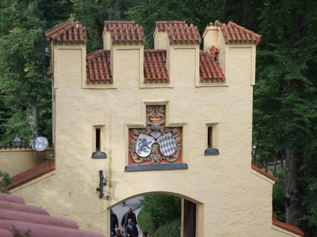 An entrance gate to Hohenschwangau castle