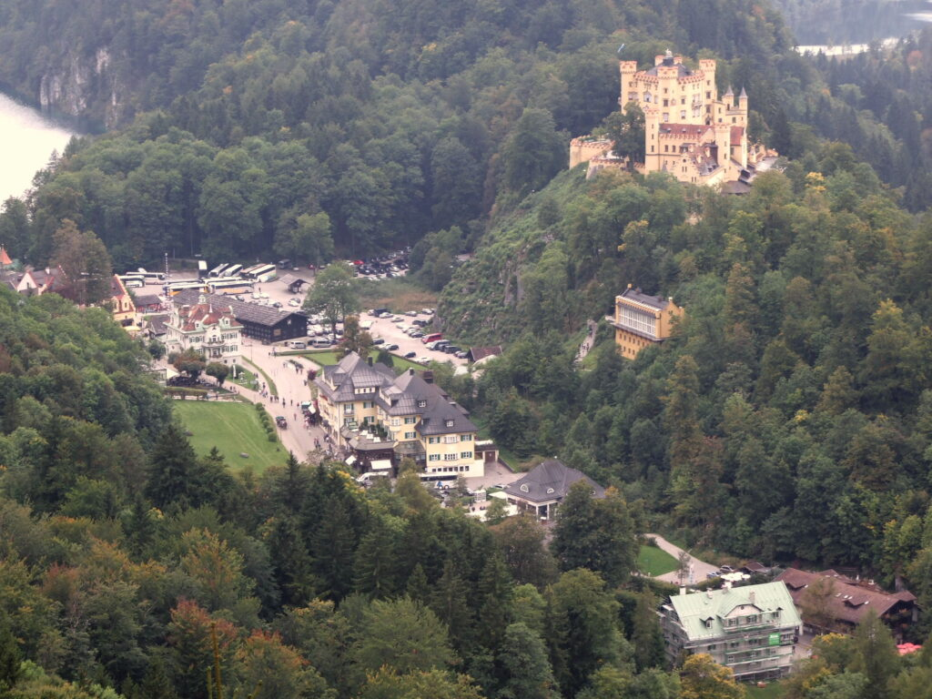 The castle with the village below it