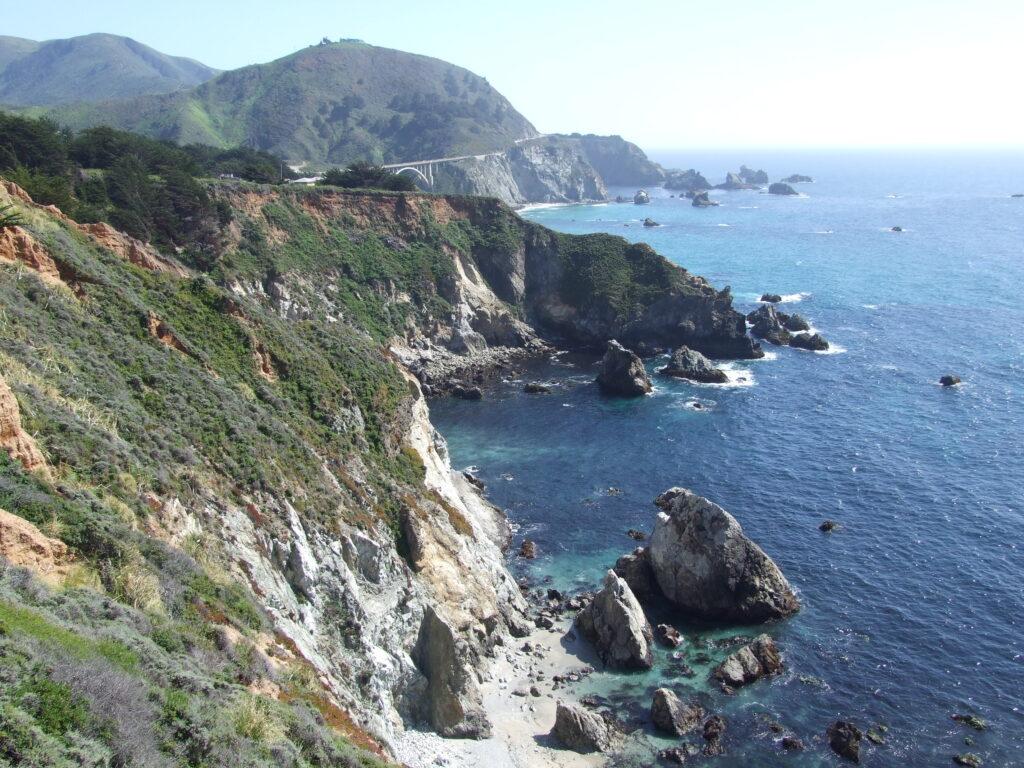 Big Sur coast of Highway 1 on a California road trip