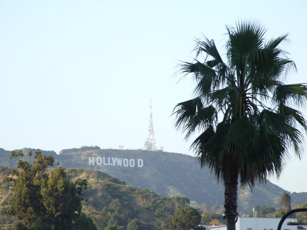 The Hollywood sign on a California road trip