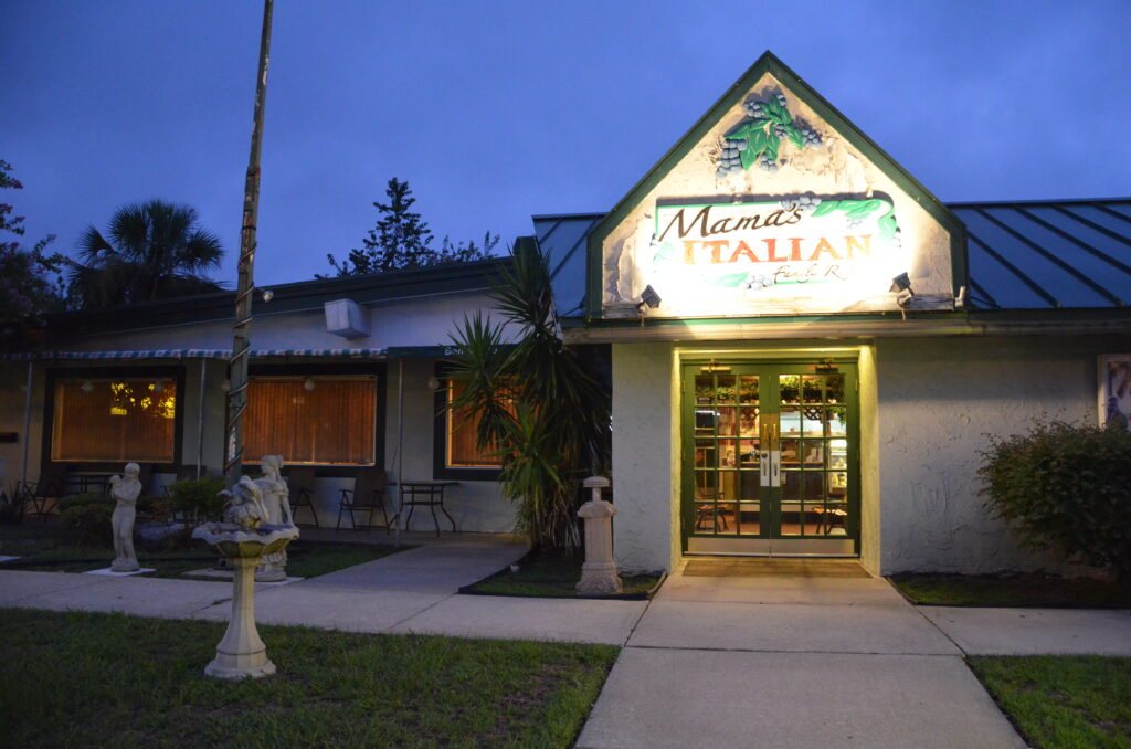 Mama's Italian Restaurant, from the outside