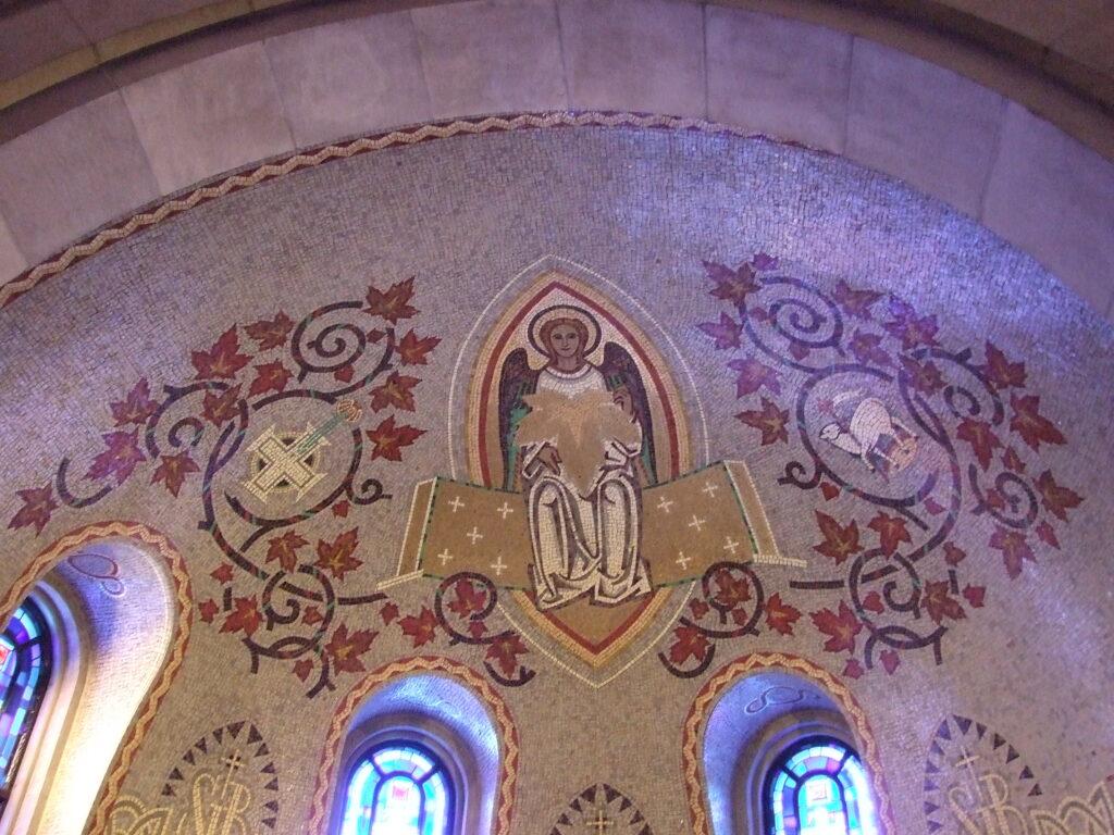 Sainte-Anne-de-Beaupre, a detail of the mosaics