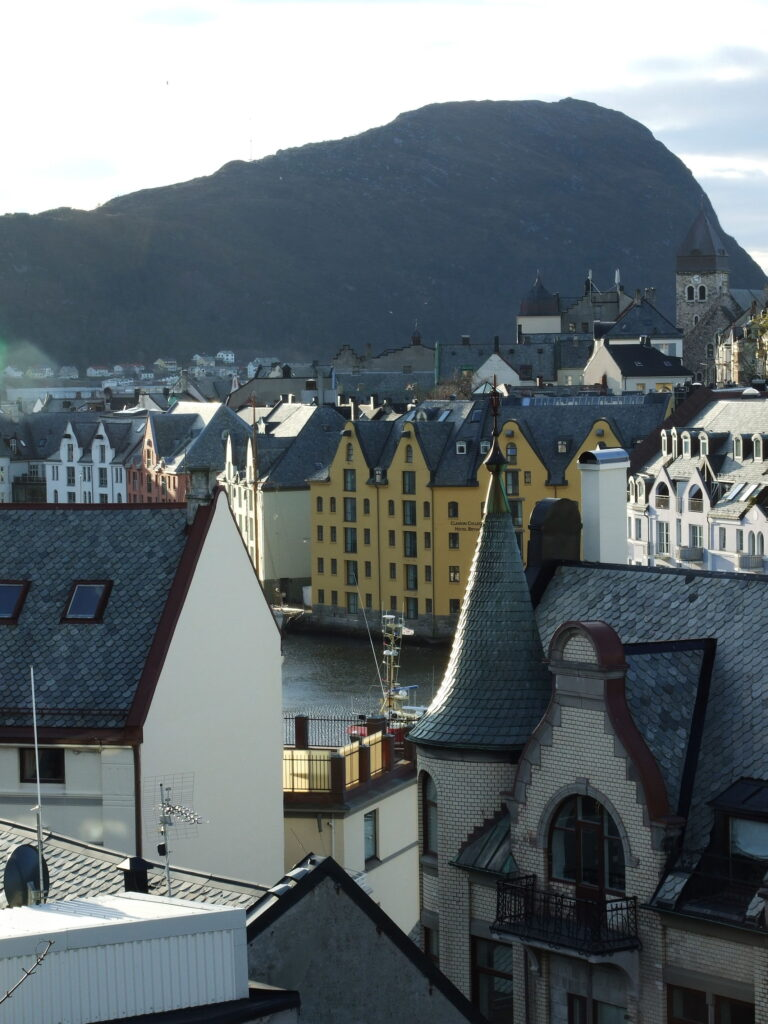 Alesund, an overview of part of it from higher up