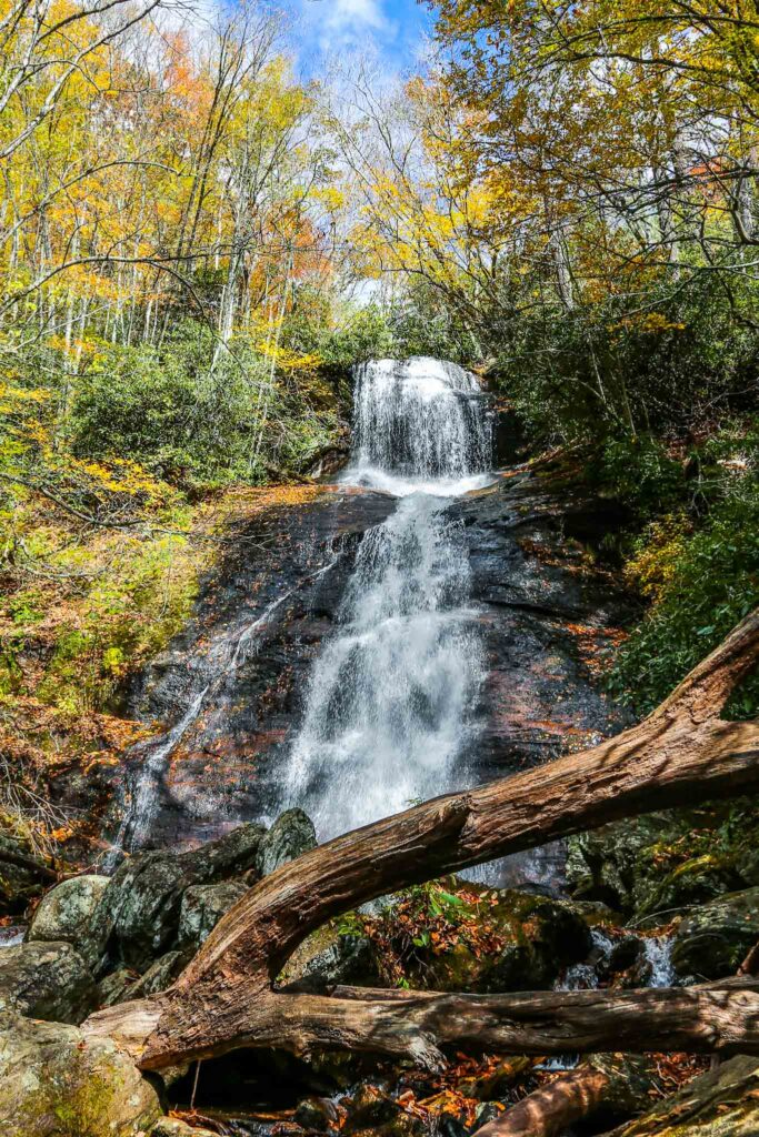 Dill falls by Rainbow Travel Life, a waterfall that cascades down over several tiers among forest