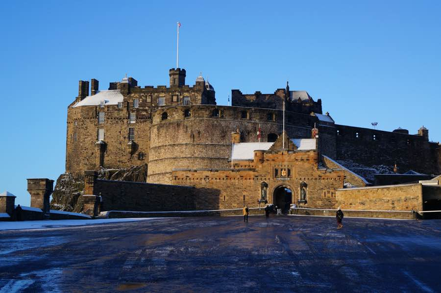 Edinburgh Castle by Guide To Castles, The castle with a street in front of it