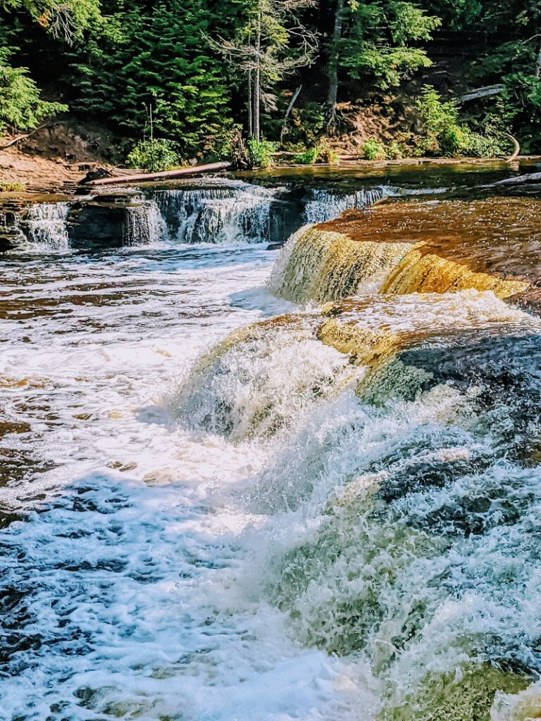 Lower Tahquamenon Falls by Veggies Abroad, small streams flowing over a whole area