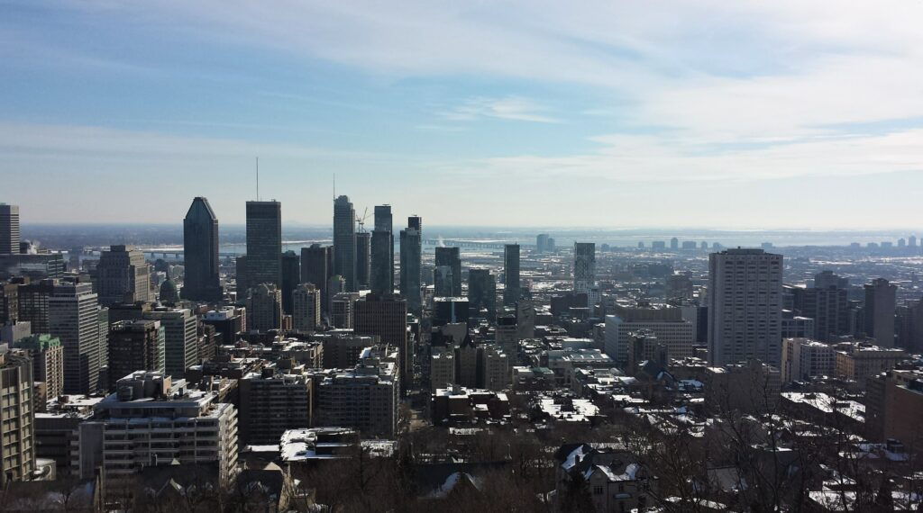 Montreal by Walk a While with Me, a skyline overview from a higher building