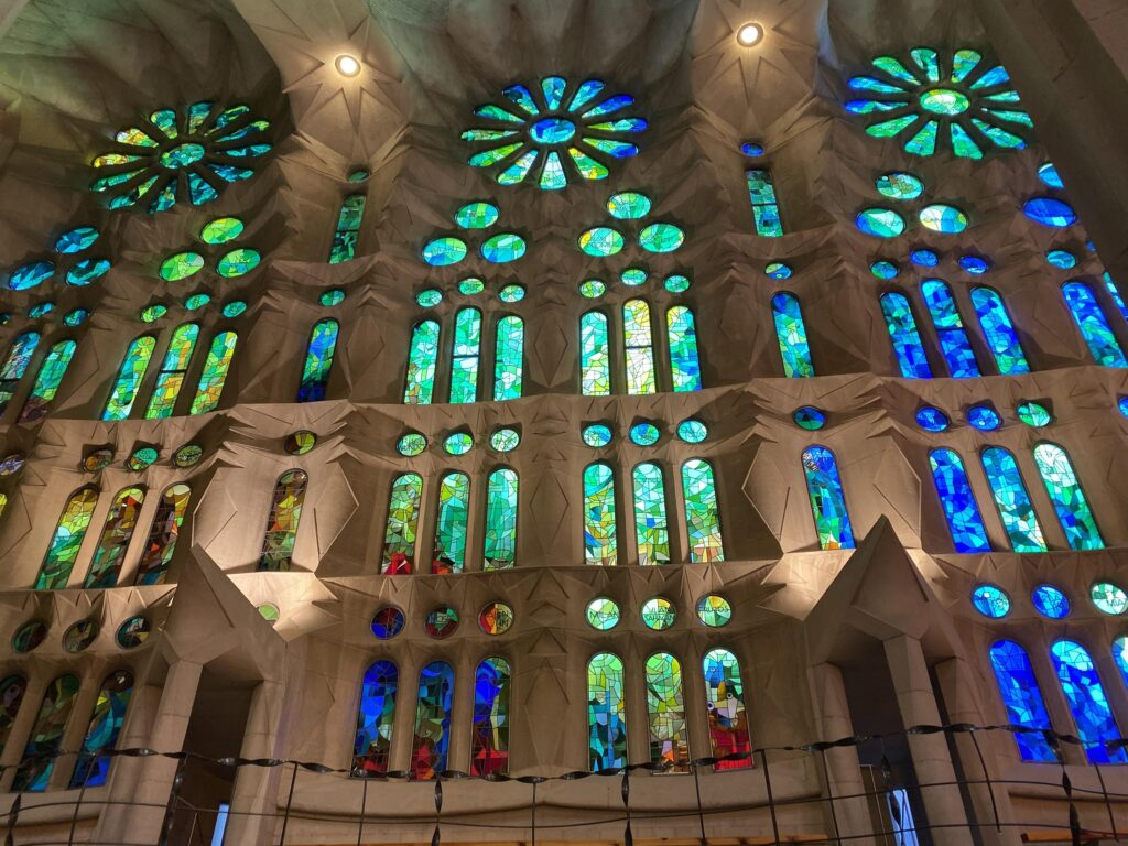 Stained Glass Inside Sagrada Familia by Diary of a Detour